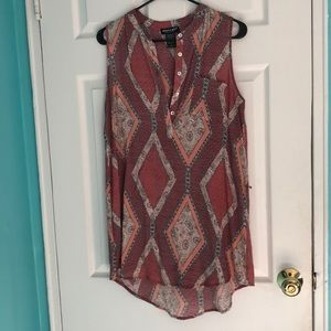 About A Girl Sleeveless Top Size Small